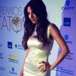 Magui Bravi estuvo en la fiesta de los Premio Tato.