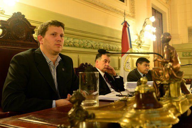 Federico Angelini en la Cámara de Diputados provincial.