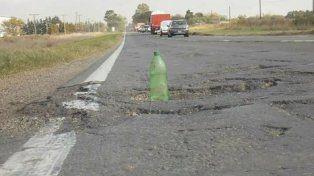 deplorable. El estado de la vieja ruta 9 ocasiona percances a diario.