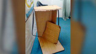 El justicialista Roly Santacroce rompió su propio escritorio y luego sufrió una descompensación.
