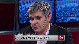 Peña calificó al proyecto de Ganancias como un proyecto irresponsable y mentiroso