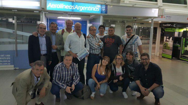 Perodistas de Rosario en Punta del Este.