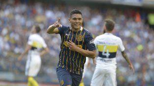 Teo Gutiérrez marcó su primer gol ante Boca y fue la figura del partido en la semifinal de la Copa Argentina ante Belgrano.