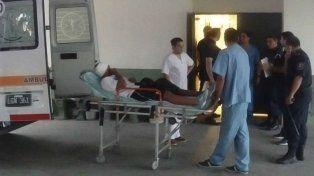 El jugador de Almagro recibió una bala de goma en la cabeza.