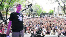 Con la gente. Mario Pergolini vino para el lanzamiento de Vorterix Rosario.