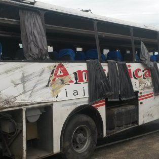 El colectivo que se accidentó con estudiantes en Carlos Paz.