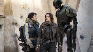 Felicity jones. El grupo rebelde es liderado por Jyn Erso.