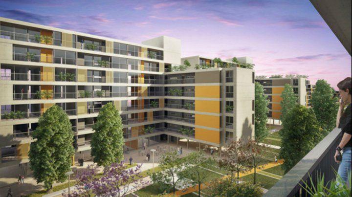 Lo que viene. Así serán los edificios que se construirán en el predio donde funcionaba el club Tiro Federal. Habrá viviendas de uno, dos y tres dormitorios.