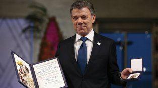 El presidente de Colombia recibió hoy el premio Nobel de la Paz