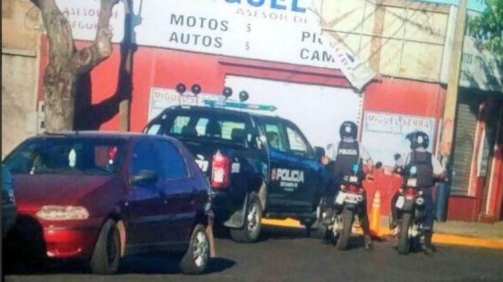 El tránsito por Calle Corrientes al 5600 estuvo cortado debido al accidente.