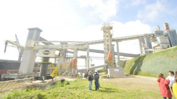 La planta de la empresa agroexportadora Cofco se sitúa en la vecina localidad de Timbúes.