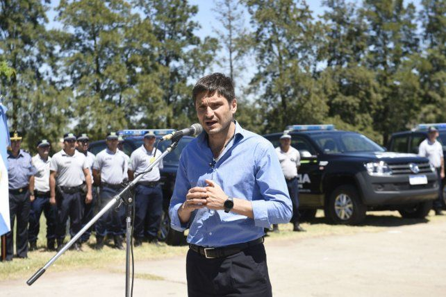 El ministro de Seguridad provincial Maximiliano Pullaro.