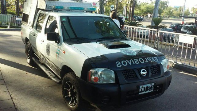 Una división de explosivos de Córdoba realizó las tareas de prevención en el búnker canalla