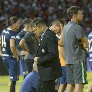 La desazón del Chacho Coudet y el plantel centralista tras la derrota ante River.