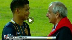 El diálogo que mantuvieron Teo Gutiérrez y DOnofrio tras la final en Córdoba.