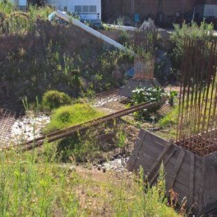 Santa Rosa de Calchines. Los cimientos de la polémica instalación.
