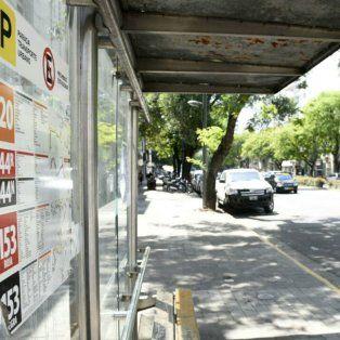 Las calles de Rosario, sin colectivos hasta el mediodía.