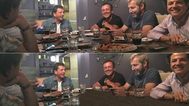 Insólito: borraron el sushi de una foto de la reunión entre Massa y funcionarios del gobierno