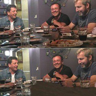 insolito: borraron el sushi de una foto de la reunion entre massa y funcionarios del gobierno