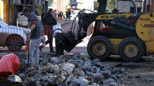Los trabajos en el centro causaron inconvenientes en el tránsito.