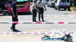 esquina trágica. La fatal colisión se produjo en 9 de Julio y Córdoba.
