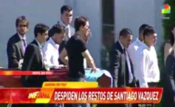 La frase de Nicolás Vázquez en el último adiós a su hermano Santiago