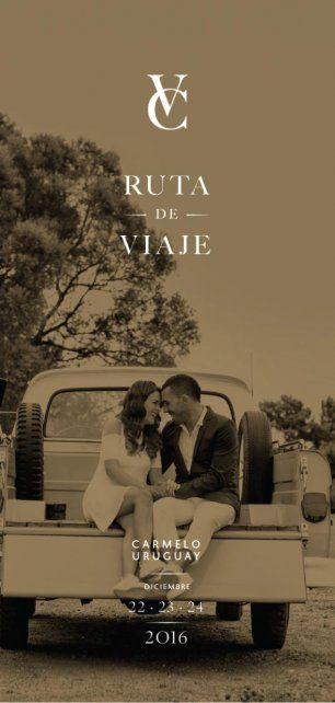 La tarjeta de casamiento de Carlitos y Vanesa.