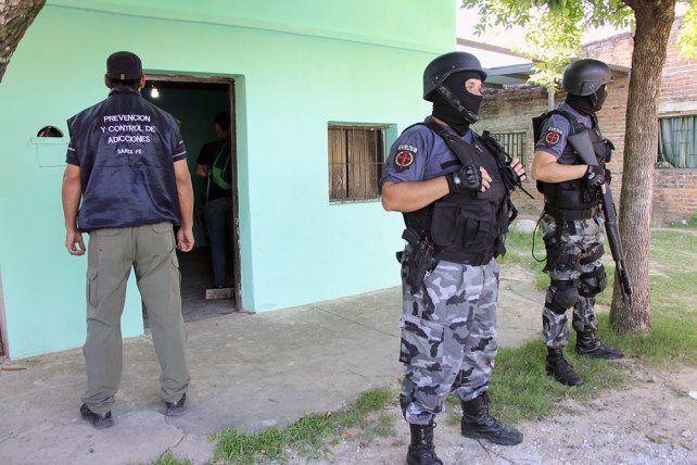 La imagen del allanamiento que se produjo antes de la detención de Moyano.
