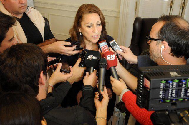 La intendenta Mónica Fein se mostró preocupada por el aumento de la violencia en la ciudad. (Foto de archivo)
