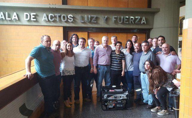 El generador fue donado por el Sindicato de Luz y Fuerza.