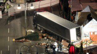 crimen. El camión que el tunecino Anis Amri lanzó contra la gente en Berlín la noche del 19 de diciembre.