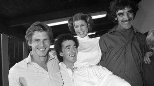 Carrie alcanzó un reconocimiento mundial en 1977 por su interpretación de la princesa Leia en Star Wars.