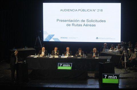 propuestas. La audiencia pública para evaluar nuevas rutas se realizó ayer en el Ministerio de Transporte.