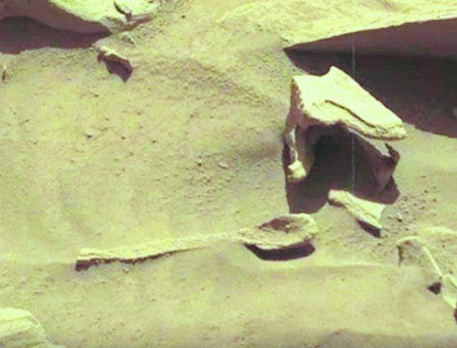 Sugestivo. La imagen tomada por el rover de la Nasa.