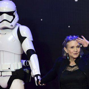 Luego de 32 años. La actriz durante la presentación en Londres de Star Wars. El despertar de la fuerza.