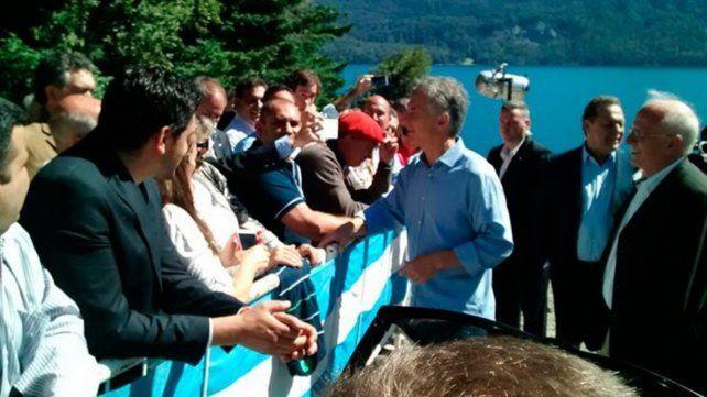 El presidente Mauricio Macri inauguró un Centro de Interpretación e Información Turistica en Villa Traful.