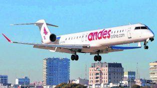 Andes Líneas Aéreas inició su plan de expansión 2017