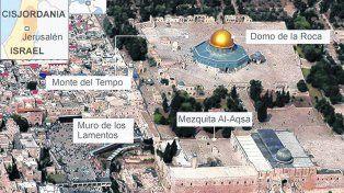 Zona en disputa. Los principales lugares religiosos en la ciudad vieja de Jerusalén motivos de la polémica.