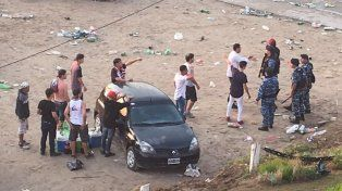 La Policía Antimotines llegó después de las 6 de la mañana