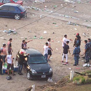La Policía Antimotines llegó después de las 6 de la mañana, cuando varios grupos ya habían protagonizado gran cantidad de desmanes.