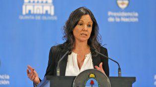 La ministra de Desarrollo Social
