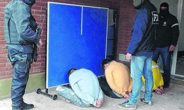 atrapados. Los miembos de la banda de Los Cerrajeros fueron detenidos en julio del año pasado.