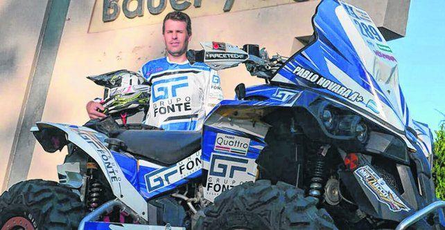 Pasión fierrera. Pablo Novara y el cuatriciclo con el que debutó en el rally más duro del mundo.