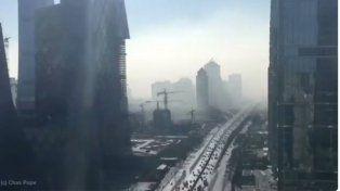 El increíble video en time lapse de lo que produce la contaminación en Pekín