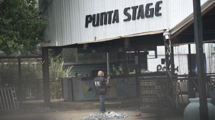 La policía trabaja en Punta Stage