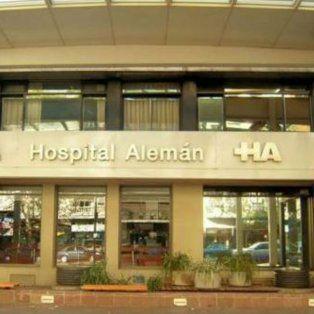 La joven quedó internada en el Hospital Alemán.