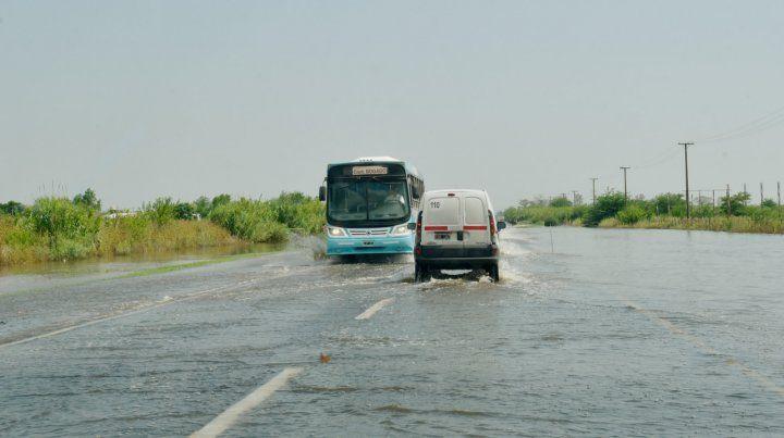 La ruta 18 después del arroyo Saladillo.
