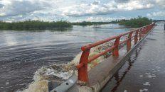 El arroyo Colastiné, desbordado tras el paso del temporal
