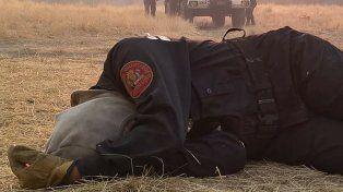 La foto de una bombera de los incendios que se hizo viral en las redes.