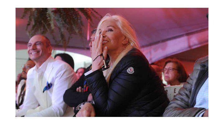 Susana Giménez asistió al desfile de modelos que se hizo en el Grand Hotel de Punta del Este.